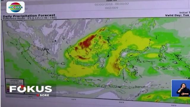 Diperkirakan curah hujan lebat akan terus terjadi hingga bulan Maret nanti sebelum memasuki musim pancaroba atau musim panas.