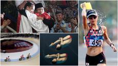 Berikut ini kumpulan momen menarik perhelatan akbar Asian Games sepanjang hari Rabu 29 Agustus 2018. (Foto-foto Kolase Bola.com, Antara Foto dan AP)