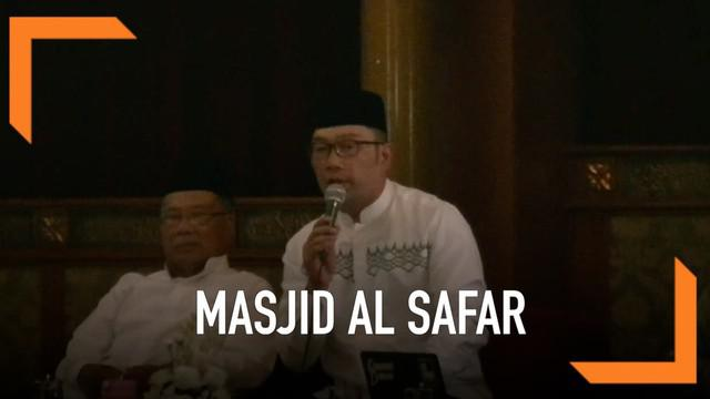 Gubernur Jawa Barat mengklarifikasi soal Masjid Al Safar yang kontoversial karena dianggap memasukkan unsur iluminati. Ridwan adalah arsitek yang mendesain masjid itu.