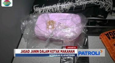 Petugas temukan janin berusia tiga bulan yang dimasukkan ke dalam kotak makanan. Temuan tersebut berada di sebuah apartemen di kawasan Kedoya, Jakarta Barat.