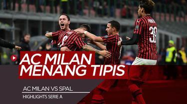 Berits Video Highlights Serie A, AC Milan Menang Tipis Atas SPAL 1-0