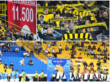 Sejumlah liga top Eropa mulai mengijinkan para suporter untuk menonton langsung pertandingan di Stadion. Berikut penampakannya.