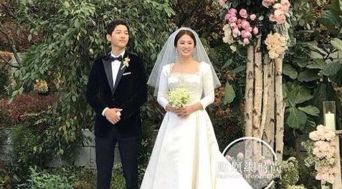 Pernikahan Song Joong Ki dan Song Hye Kyo digelar secara tertutup pada 31 Oktober 2017 lalu di Shilla Hotel, Korea Selatan (Instagram)