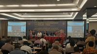 Rapat koordinasi antara PSSI dan Polri digelar untuk menyamakan persepsi seputar jadwal pertandingan dan keamanan. (dok. PSSI)