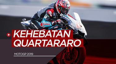 Berita video catatan-catatan apik pembalap Petronas Yamaha, Fabio Quartararo, pada MotoGP 2019 sejauh ini.