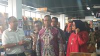 Gubernur DKI Anies Baswedan meresmikan Jakbook di Pasar Kenari, Jakarta. (Liputan6.com/Ika Defianti)