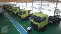 PT Hino Motors Sales Indonesia (HMSI) meresmikan bangunan after sales di Kawasan Industri Jatake, Tangerang, Kamis (19/11/2015). Gedung tersebut bakal menjadi pusat kegiatan Hino untuk pelayanan after sales dan suku cadang. (Liputan6.com/Angga Yuniar)
