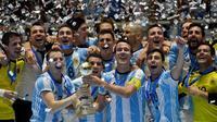 Argentina menjadi juara Piala Dunia Futsal 2016. (AFP/Luis Robayo)