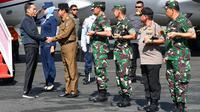 Presiden Joko Widodo (Jokowi) saat tiba di Pangkalan TNI AU Raden Sadjad, Kabupaten Natuna, Rabu (8/1/2020). (dok. Laily Rachev - Biro Pers Sekretariat Presiden)