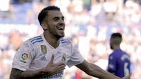 Gelandang Dani Ceballos baru merasakan 21 pertandingan Real Madrid di berbagai ajang pada musim ini. (AFP/Ander Gillenea)
