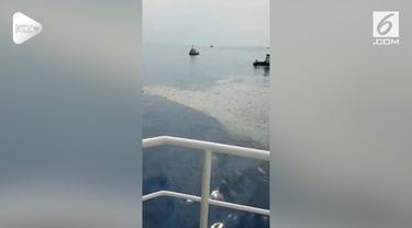 Pesawat Lion Air JT 610 yang jatuh di perairan Karawang, Jawa Barat mulai ditemukan.