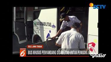 Puluhan pemudik difabel asal Jawa Tengah memanfaatkan bus khusus untuk kembali ke daerah mereka masing-masing. Seperti apa penampakannya?