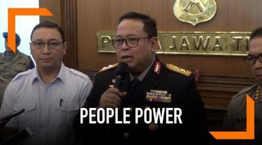 Polda Jawa Timur telah mencegah ribuan orang yang akan berangkat ke Jakarta jelang tanggal 22 Mei 2019.