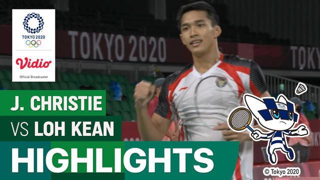 Berita Video, Jonatan Christie Melaju ke Babak 16 Besar Olimpiade Tokyo 2020 Usai Kalahkan Wakil Singapura