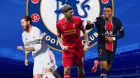 Chelsea - Sergio Ramos, Steven Gerrard, Kylian Mbappe (Bola.com/Adreanus Titus)