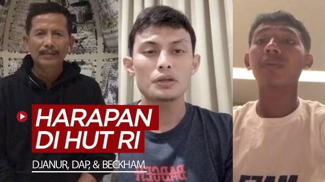 Berita video harapan-harapan yang disampaikan Djadjang Nurdjaman, Dias Angga Putra, dan Beckham di HUT ke-75 RI (Republik Indonesia) pada Senin (17/8/2020).