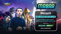 Main bareng Mobile Legends bersama Warpath, Kamis (10/12/2020) pukul 19.00 WIB dapat disaksikan melalui platform Vidio, laman Bola.com, dan Bola.net. (Dok. Vidio)