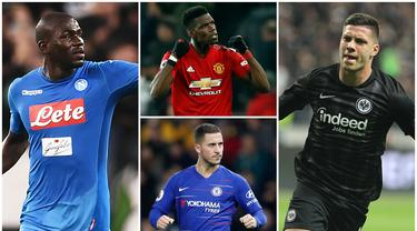 Berikut ini empat pemain yang akan membuat Real Madrid semakin ganas musim depan. Diantaranya, Eden Hazard, Luka Jovic dan Kalidou Koulibaly. (Foto Kolase AFP)