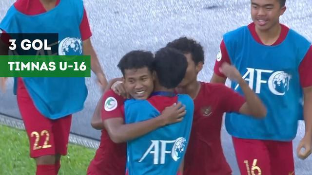 Berita video gol-gol Timnas Indonesia U-16 pada fase grup Piala AFC U-16 2018.