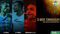 Trivia 3 Bek Tanggung Liga 1 yang Siap Unjuk Gigi pada Musim 2019 (Bola.com/Adreanus Titus)