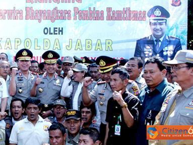 Citizen6, Bogor: Program Bintara pembina keamanan dan ketertiban masyarakat (Babinkamtibmas) mengambil Polres Kota Bogor sebagai pilot project. Selasa (26/7). (Pengirim: Tri Iswanto)