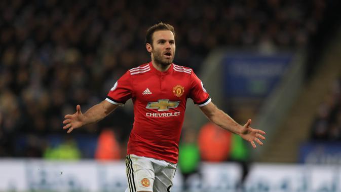 Pemain Manchester United, Juan Mata. (AP/Mike Egerton)