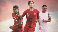Timnas Indonesia - Asnawi Mangkualam, Asep Berlian, Irfan Bachdim (Bola.com/Adreanus Titus)