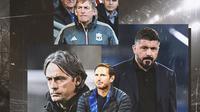 Ilustrasi - Filippo Inzaghi, Kenny Dalglish, Gennaro Gattuso, Frank Lampard (Bola.com/Adreanus Titus)