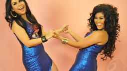 """Duo vokal bernama Duo Marmut ini debut hits single """"Endespoy"""" sebuah lagu dangdut. Senin (2/6/14) (Liputan6.com/Panji Diksana)"""