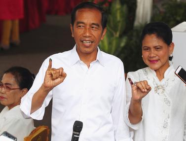 Jokowi Nyoblos di TPS 008
