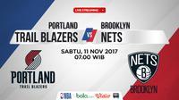 Jadwal NBA, Portland Trail Blazers Vs Brooklyn Nets. (Bola.com/Dody Iryawan)
