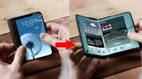 Smartphone yang diduga sebagai ponsel lipat Samsung (Sumber: Gizmochina)