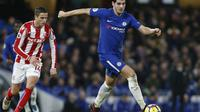 Andriy Shevchenko menyarankan Alvaro Morata untuk memperbaiki sentuhan akhirnya agar bisa kembali tajam di lini depan Chelsea. (AFP/Ian Kington)