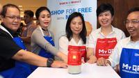 "BRI menggelar promo ""Shop For Free With My QR"" di Ranch Market Surabaya pada 20 Oktober 2018."