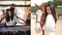 Potret Liburan Raline Shah di Nihi Sumba, Belajar Menenun dan Berkuda di Pantai. (Sumber: Instagram/ralineshah)
