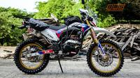 Honda CRF 150L menganut aliran modifikasi adventure bike. (BMS)