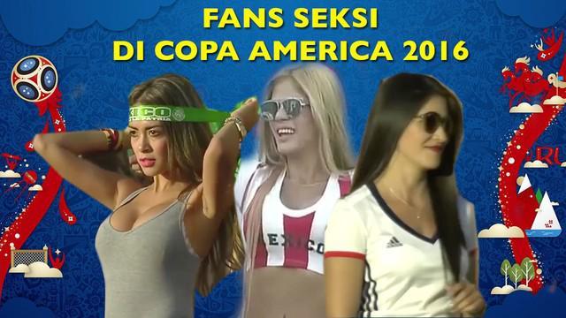 Video fans-fans cantik berbagai negara yang ada di Copa America 2016.