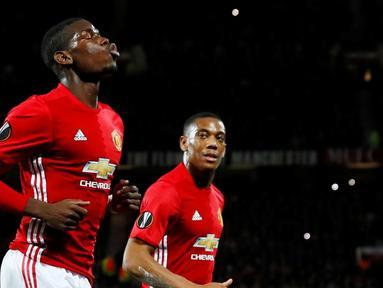 Paul Pogba cetak 2 gol, Manchester United bungkam Fenerbahce dalam laga Grup A Liga Europa di Stadion Old Trafford, Manchester, Jumat (21/10/2016). (Action Images via Reuters/Jason Cairnduff)