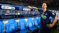 Striker Paris Saint-Germain asal Swedia, Zlatan Ibrahimovic. (AFP/Franck Fife)