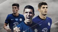 Pemain Chelsea: Christian Pulisic. (Bola.com/Dody Iryawan)
