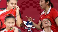 Olimpiade 2020 - Greysia/Apriyani Vs Chen Qingchen/Jia Yifan (Bola.com/Adreanus Titus)