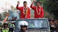 Rifki Ardiansyah Arrosyiid pulang kampung ke Surabaya setelah meraih prestasi gemilang di Asian Games 2018. (Bola.com/Aditya Wany)