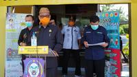 Tim Gugus Tugas Percepatan Penanganan Virus Corona Provinsi Gorontalo saat jumpa pers. (Liputan6.com/ Arfandi Ibrahim)