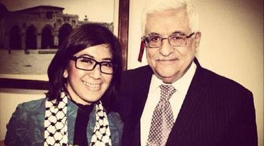 Ketua Komisi 1 DPR RI Meutya Hafid bersama Presiden Palestina Mahmoud Abbas, beberapa tahun lalu. (Photo credit: Dok. Meutya Hafidz)