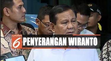 Selepas membesuk, menurut Prabowo kondisi Wiranto yang ditangani sembilan dokter senior dari TNI sudah membaik dan stabil.
