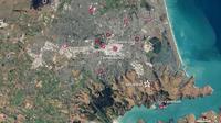 Gempa magnitudo 6,3 mengguncang Christchurch, Selandia Baru pada 22 Januari 2011 (NASA)