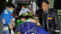 Narti Sunarti, perempuan super obesitas dengan berat badan ratusan kilogram akhirnya dirujuk ke Rumah Sakit Hasan Sadikin Bandung. (Liputan6.com/ Abramena)