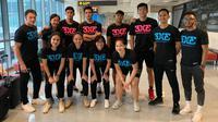 Tim putra dan putri basket 3X3 Indonesia foto bersama saat Kejuaraan Universitas se-Asia. (Istimewa)