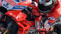 Pembalap Ducati, Jorge Lorenzo mengukir catatan waktu tercepat dalam tes pramusim MotoGP 2018 di Sirkuit Sepang, Malaysia. (Mohd RASFAN / AFP)