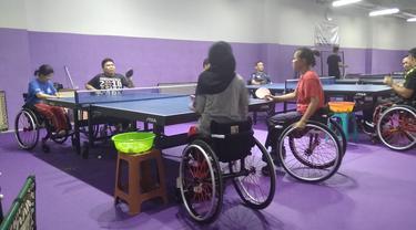 Ilustrasi latihan paralimpiade.